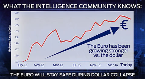 euro safe during dollar collapse