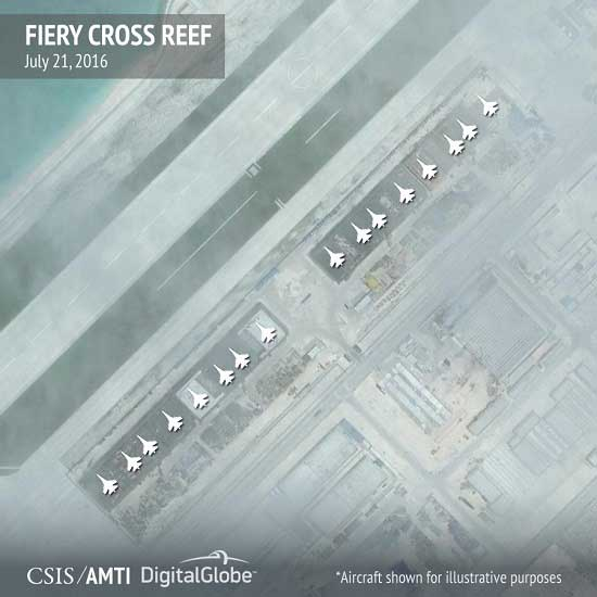 China building reinforced aircraft hangars on disputed islands in South China Sea