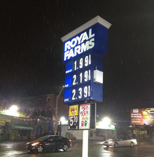 when was the last time gas prices were this low