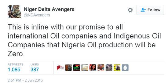 today's oil price