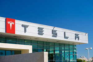 Tesla Motors stock price